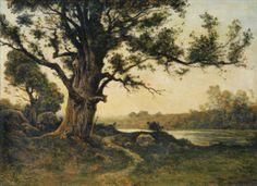 Henri Joseph Harpignies (Fr. 1819-1916), The Old Oak Tree, 1895, oil on canvas, 60 x 82.5 cm