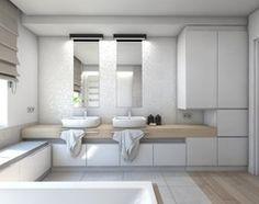 Aranżacje wnętrz - Łazienka: (Dom w okolicy Lublińca) Dom jednorodzinny 7 - Duża łazienka, styl nowoczesny - BAGUA Pracownia Architektury Wnętrz. Przeglądaj, dodawaj i zapisuj najlepsze zdjęcia, pomysły i inspiracje designerskie. W bazie mamy już prawie milion fotografii!