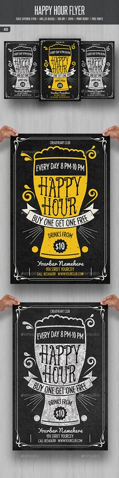 Happy Hour Flyer 3 - Events Flyers