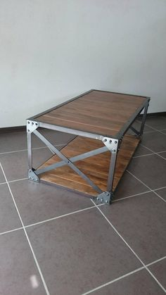 Coffee table enhancing concepts can turn that messy table top right into a layout function to be happy with. Appreciate the most effective styles for Coffee Table Redo, Solid Wood Coffee Table, Metal Coffee Tables, Modern Industrial Furniture, Diy Pallet Projects, Pallet Ideas, Steel Furniture, Wooden Pallets, Wood And Metal