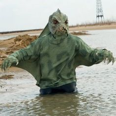 Adult Sea Creature Shirt Costume_$22.  For sea monster game
