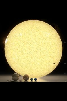 Actual Scale Size Image of how big the Planets in our Solar System are .... Earth is tiny ! The Sun is huge !