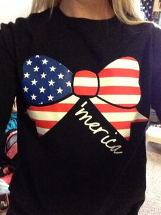 Ladies 'Merica Bow' Long Sleeve T-Shirt Mode Style, Style Me, Sweet Style, Summer Outfits, Cute Outfits, Cute Shirts, Beach Shirts, Swagg, Bid Day