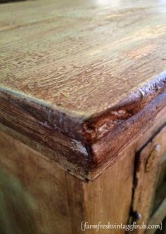 How I Got a Layered Paint Look Using Annie Sloan Chalk Paint - Farm Fresh Vintage Finds