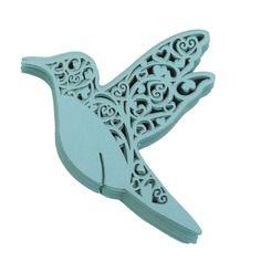 Lot de 50pcs Carte de Verre Marque Place Forme de Papillon D/écoration pour Table Bleu