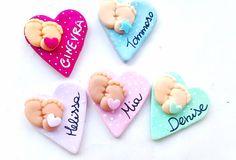 lotto stock 1 ciondolo charm o magnete fimo bomboniera neonato bimba battesimo nascita piedini ciuccio biberon carrozzina, by Sweet.charms, 0,90 € su misshobby.com