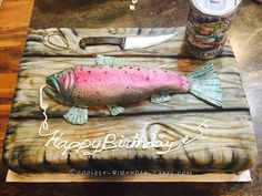 Coolest Rainbow Trout Cake... Coolest Birthday Cake Ideas