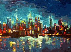 Abstract NYC Skyline Art Print