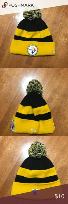 New Era Pittsburgh Steelers Winter Hat In great condition, ready for immediate use for this upcoming winter season. New Era Accessories Hats