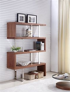 Walnut Veneer Bookcase by Talenti Casa is part of the SCALA Collection.