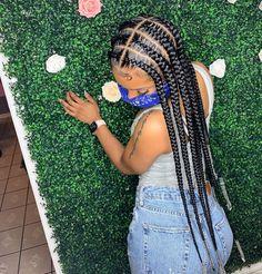 Big Box Braids Hairstyles, Braids Hairstyles Pictures, Braided Hairstyles For Black Women, Baddie Hairstyles, African Braids Hairstyles, My Hairstyle, Hair Pictures, Weave Hairstyles, Girl Hairstyles
