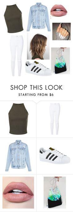 """everyday"" by jadynmwashington ❤ liked on Polyvore featuring New Look and adidas"