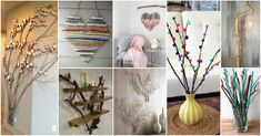 For those that want to add to their home decor with some creative decoration here is an exquisite collection of DIY Creative Decor Hacks That Will Blow Your Mind. Dive in this creativity and try to do at least one of these projects. Tree Branch Decor, Tree Branches, Twig Crafts, Decor Crafts, Diy Home Decor Bedroom, Cool Diy Projects, Handmade Home Decor, Creative Decor, Decoupage