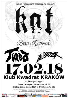Relacja i galeria zdjęć z koncertu Kat  Roman Kostrzewski, Turbo i Alastor w Krakowie: http://www.heavymetalandmore.pl/2018/02/kat-roman-kostrzewski-turbo-i-alastor-w.html