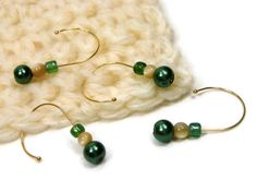 Removable Stitch Markers Crochet Snag Free Beaded by TJBdesigns, $6.00