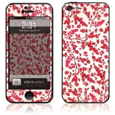 Red floral design iphone 5 skin and case #iphone5