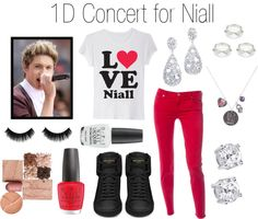 """""""1D Concert with Niall"""" by onedirectionperfectdates ❤ liked on Polyvore"""