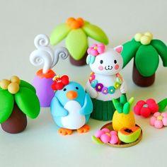 Cute clay figures