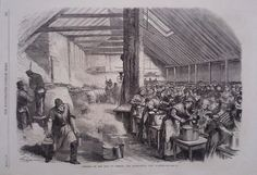 1867 PRINT DISTRESS IN THE EAST OF LONDON : THE SPITALFIELDS SOUP KITCHEN
