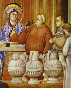 Giotto - The Wedding Feast at Cana. Detail. 1304-1306. Fresco. Capella degli Scrovegni, Padua