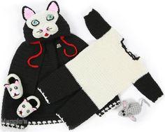 Cat Cape and Romper Set Crochet Pattern