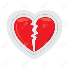 Broken heart dotted sticker. Vector illustration design , #AD, #dotted, #heart, #Broken, #sticker, #design
