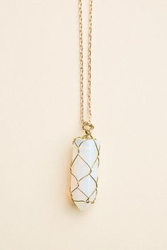 Brandy ♥ Melville | Opal Stone Necklace - Accessories  this is so cute!