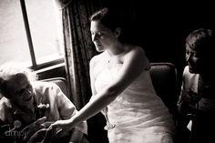 Julia & Scott: Mini wedding celebration -- Showing grandma the bling