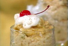 Rum-Raisin Rice Pudding by Tish Boyle from FoodNetwork.com