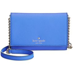 kate spade new york Cedar Street Cami Crossbody ($148) ❤ liked on Polyvore featuring bags, handbags, shoulder bags, adventure blue, kate spade purses, purse crossbody, hand bags, purse shoulder bag and crossbody purse
