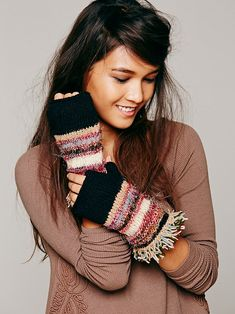 Free People Multi Knit Fringe Glove, $38.00