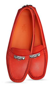 83bcd66c1b22 Hermes driving loafers Mocassin Shoes, Loafer Shoes, Shoes Heels, Flat  Shoes, Red