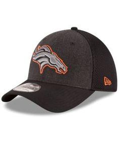 New Era Denver Broncos Black Heather Neo 39THIRTY Cap - Black L/XL
