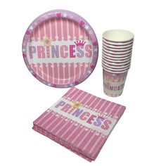 Amazon.com: Princess Party Plates Napkins and Cups Bundle: Toys & Games