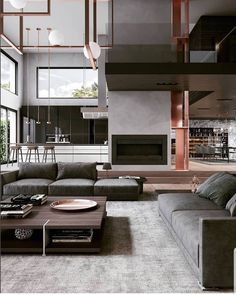 Minimal Interior Design Inspiration in 2020 (With images) Home Room Design, Dream Home Design, Modern House Design, Home Interior Design, Interior Architecture, Living Room Designs, Interior Paint, Living Room Interior, House Rooms