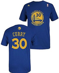 Golden State Warriors Stephen Curry Name   Number T-Shirt (Blue) S Warriors 2aa58ac9f
