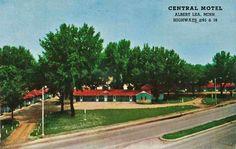 Lake Albert Lea MN | Broadway at College Street in Albert Lea Minnesota, 1945