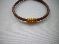5mm Distressed Brown Leather Bracelet with by DesignsbyPattiLynn, $35.00