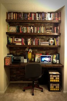 DIY shelves:  for in closet, bathroom, or other small spaces