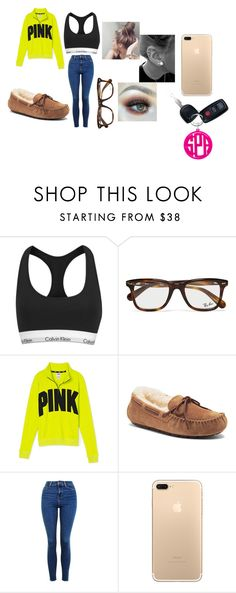 """Oh Baby No Way"" by chanel-xoxo123 on Polyvore featuring Calvin Klein, Ray-Ban, Victoria's Secret PINK, UGG Australia and Topshop"