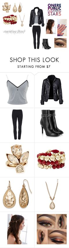 """Counting Stars by OneRepublic"" by themortalinstrumentslover ❤ liked on Polyvore featuring Yves Saint Laurent, Oscar de la Renta, Bold Elements and REGALROSE"