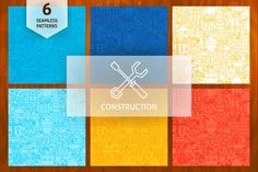 Construction Line Seamless Patterns ~ Patterns on Creative Market