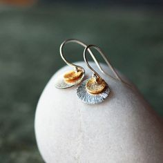 Hey, I found this really awesome Etsy listing at https://www.etsy.com/listing/211932333/double-disc-earrings-mixed-metal