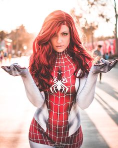 Feature with an epic shot of her as / Photo by Check out our other feature cosplay models. Spiderman Cosplay, Marvel Cosplay, Marvel Girls, Marvel Dc, Marvel Comics, Spider Girl, Spider Women, Manga, Marvel Characters