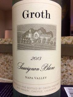2013 Groth Sauvignon Blanc