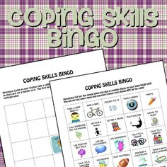 Coping Skills Bingo. Why didn't I think of that?!