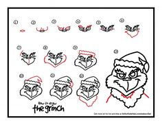 "Isn't The Grinch one of the best Christmas movies ever? I love the message in it! One of my all time favorite quotes: ""Then the Grinch thought of something he hadn't before! What if Christmas, he thought, doesn't come from a store. What if Christmas…perhaps…means a little bit more!"" Our how to draw The Grinch …"