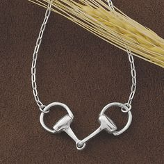 Sterling Snaffle Bit Necklace - Horse Themed Gifts, Clothing, Jewelry and Accessories all for Horse Lovers   Back In The Saddle