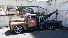 chopped International rat rod tow truck
