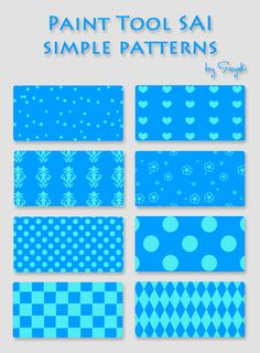 Simple patterns for SAI by Sayuki-hime.deviantart.com on @DeviantArt